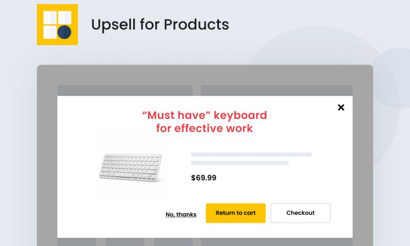 SpurIT - Upsell for Products
