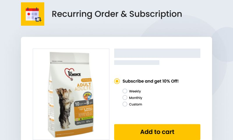 SpurIT - Recurring Order & Subscription