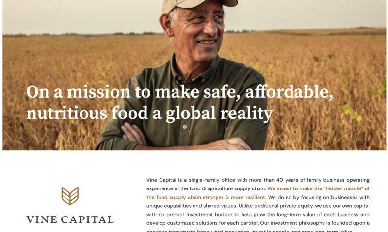 e10 - Vine Capital website design and development