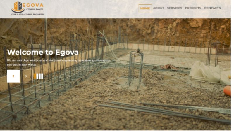 Calvary Studio - Egova - Civil Engineering Website - WordPress