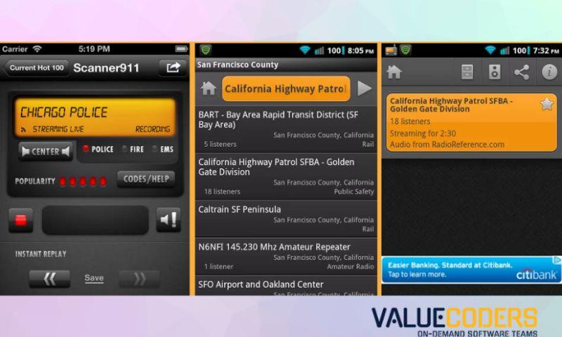 ValueCoders - Police Scanner App