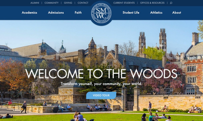 MJK Digital - St. Mary of the Woods College Responsive Website