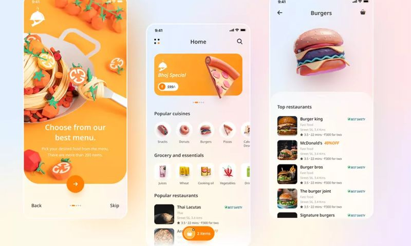 Mindinventory - Food Delivery App