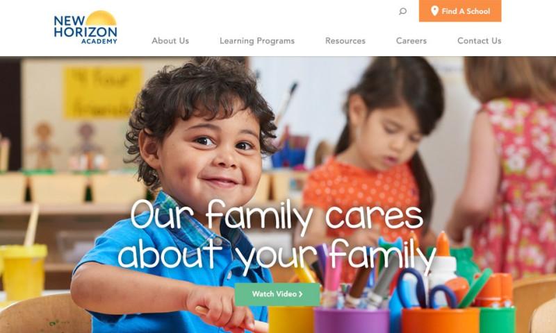 MJK Digital - New Horizon Academy Responsive Website
