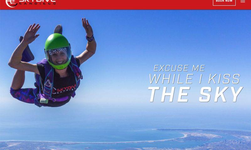 Everzocial - Skydiving Center Website Redesign