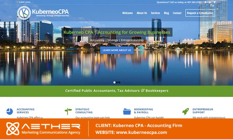 AETHER Marketing Communications - Kuberneo CPA: Accounting Firm in Orlando, Florida