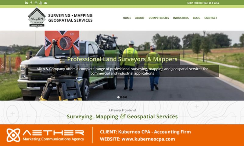 AETHER Marketing Communications - Allen & Company: Surveying, Mapping & Geospatial Svcs.