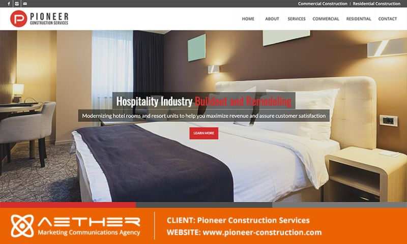 AETHER Marketing Communications - Pioneer Construction Services: Commercial Constructors