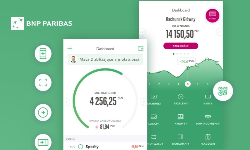 Miquido - BNP Paribas - Simple in-app bank account management