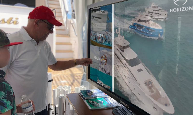 spinTouch Interactive Agency - Horizon Yachts Fort Lauderdale International Boat Show