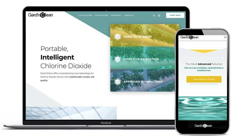 Idea Swell - E-Commerce Web Design for Gard'nClean