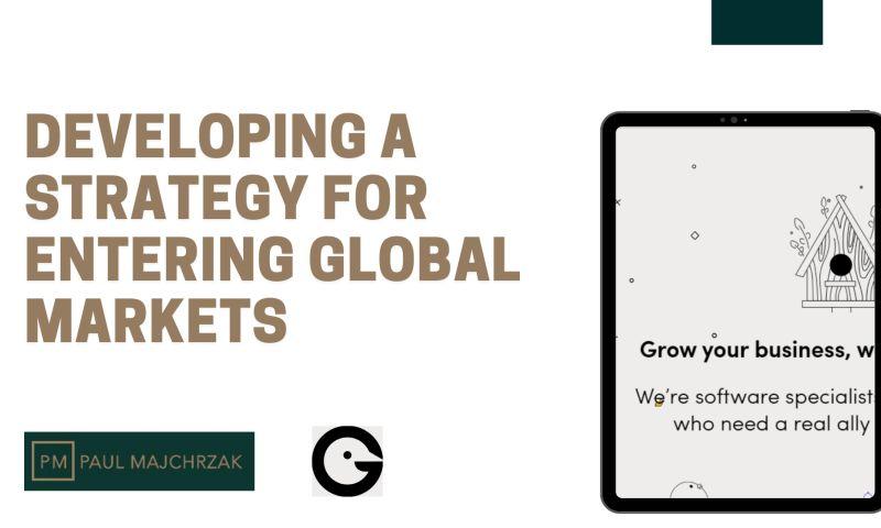 Paul Majchrzak Consulting - Entering the international market