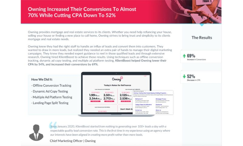KlientBoost - Owning - Case Study