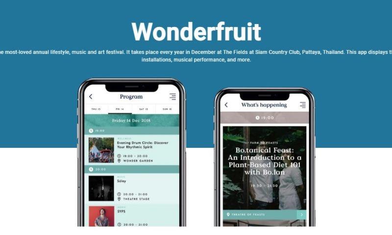 Sparx IT Solutions - Wonderfruit: Mobile App Development