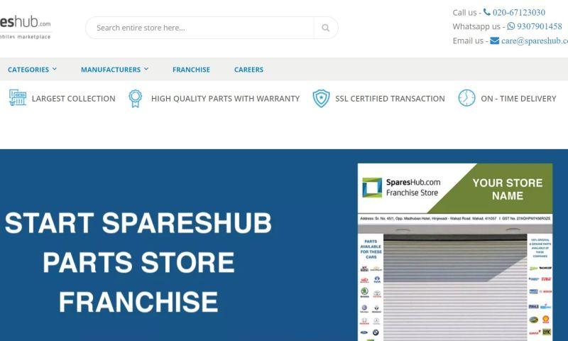 Sparx IT Solutions - Spareshub: Website Development