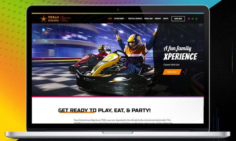 Twingenuity Graphics - Texas Entertainment Xperience - Website Redesign