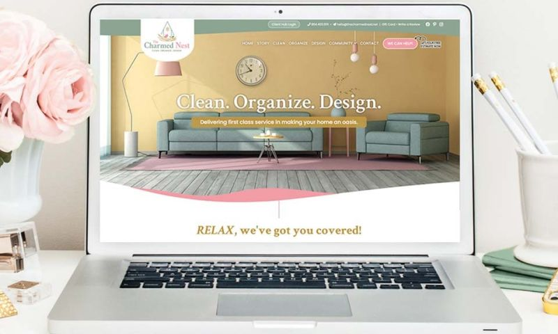 Twingenuity Graphics - The Charmed Nest Brand + Website