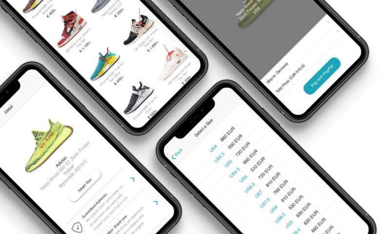 Ekreative - A platform where users buy and sell exclusive, brand name sneakers