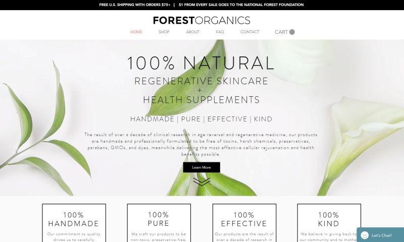 Weblii - Forest Organics Online Shop