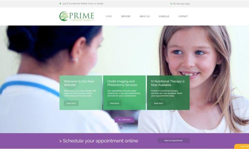 Weblii - Prime Medical Clinic Website
