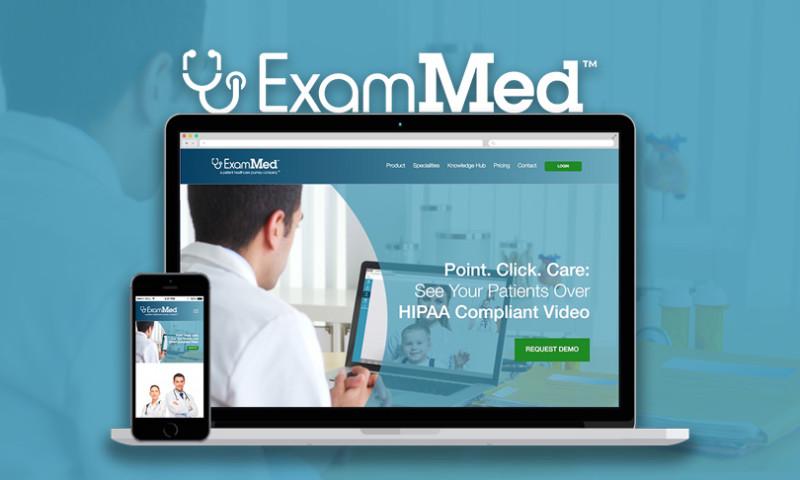 Intrepy Healthcare Marketing - Website Design - ExamMed Telemedicine