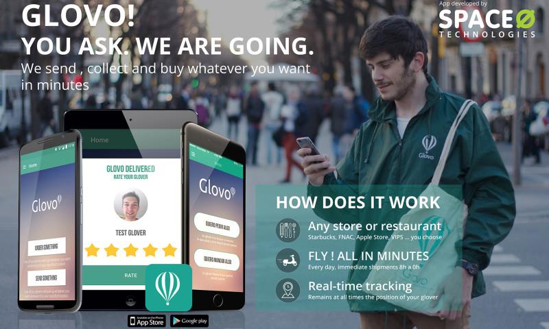 Space-O Technologies - Glovo - An E-Bulter App