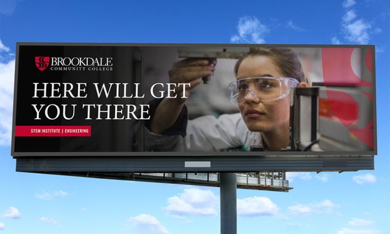 Splendor Design - Here will get you there. Client: Brookdale Community College