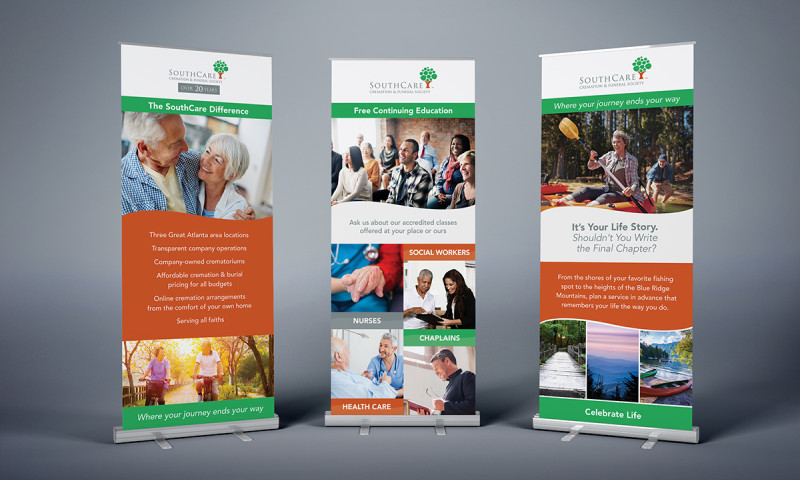 Badie Designs - SouthCare Cremation & Funeral Society Banner Designs