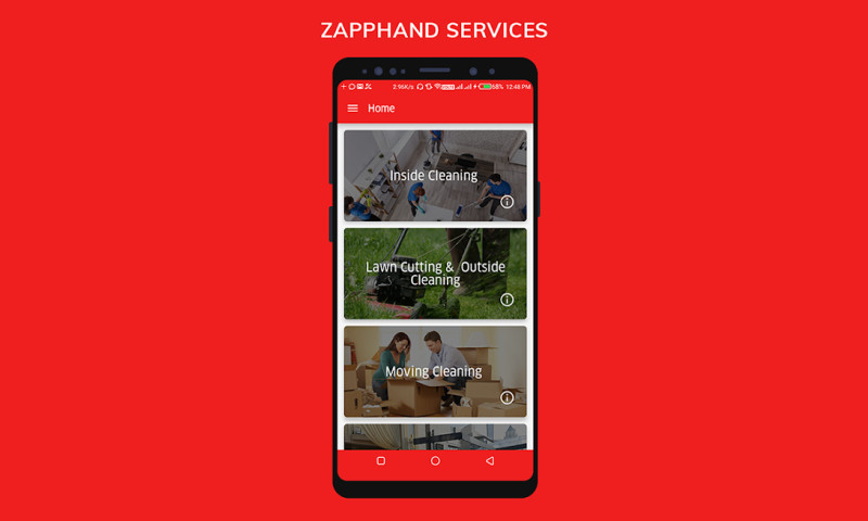 iGlobsyn Technologies - Zapphand - Cleaning Service Mobile App