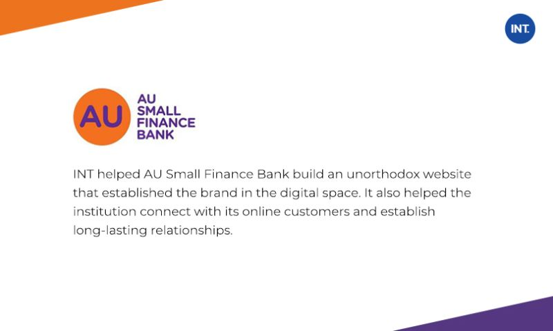 Indus Net Technologies - Built an advanced featured website for online retail banking customers to provide seamless digital banking experience.