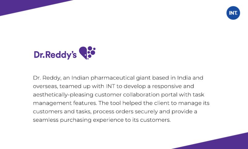 Indus Net Technologies - Highly Customized Task Management Along With Customer Collaboration Tool For Pharma Giant
