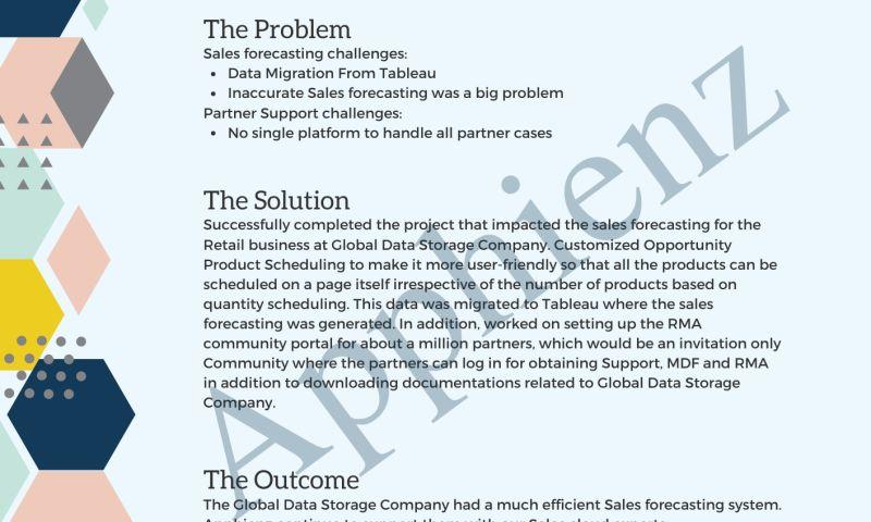 Apphienz Inc - Global Data Storage Company Case Study