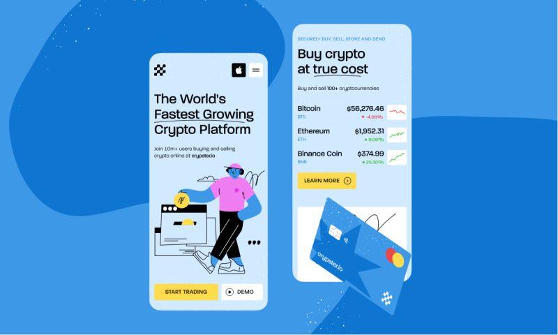 Clickable - Crypto Platform Mobile Page