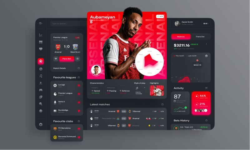 Clickable - SportScore — Betting Platform Dashboard
