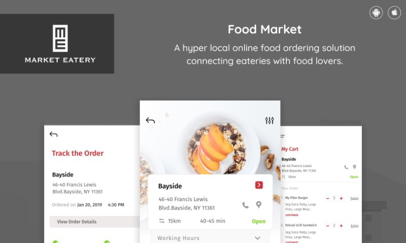 Intuz - Hyper Local Food Ordering Solution