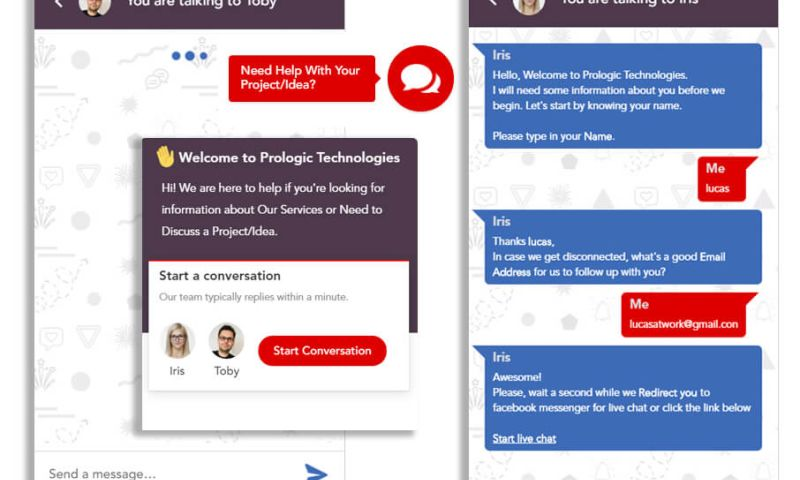 Prologic Technologies - IRIS - Interactive Chatbot for Lead Generation and Service Information with Slack and Mailchimp Integration