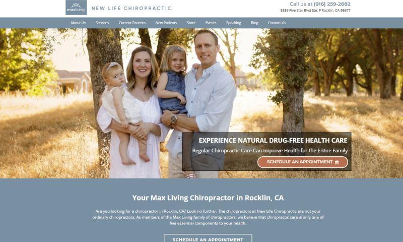 Jucebox Local Marketing Partners - New Life Chiropractic website