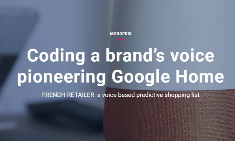 Artefact - Monoprix - Coding a brand's voice pioneering Google home