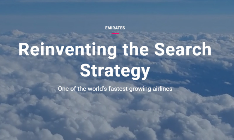 Artefact - Emirates - Reinventing the Search Strategy
