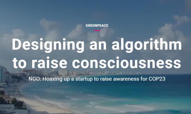 Artefact - Greenpeace - Designing an algorithm to raise consciousness