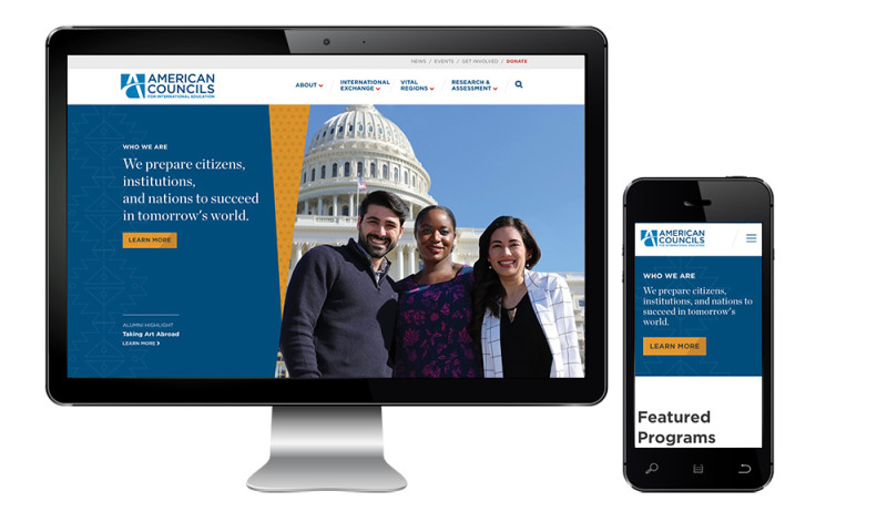 Inclind, Inc - American Councils for International Education Drupal Website Redesign