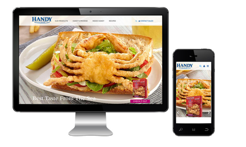 Inclind, Inc - Handy Seafood Website Redesign and eCommerce