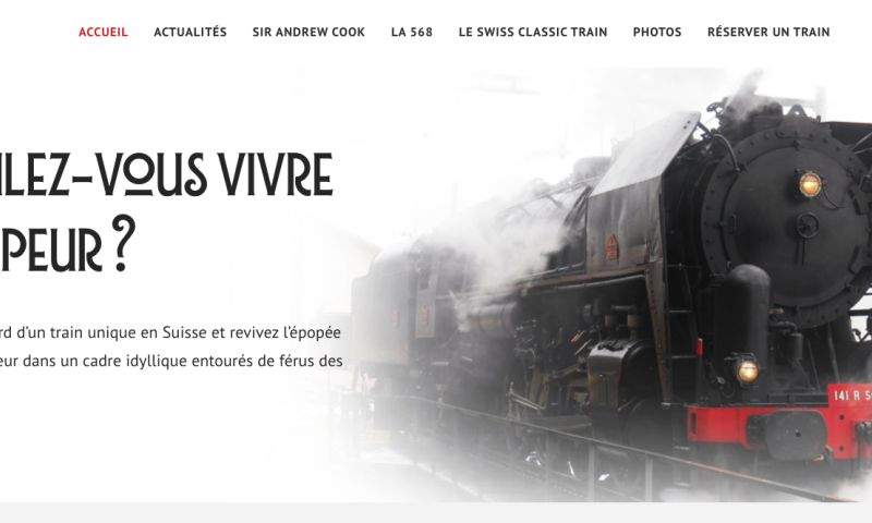 Coteries SA - Website redesign and creation of a web interface for train trip creation and ticketing