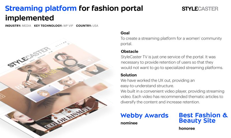 Umbrella IT - Streaming platform for Stylecaster