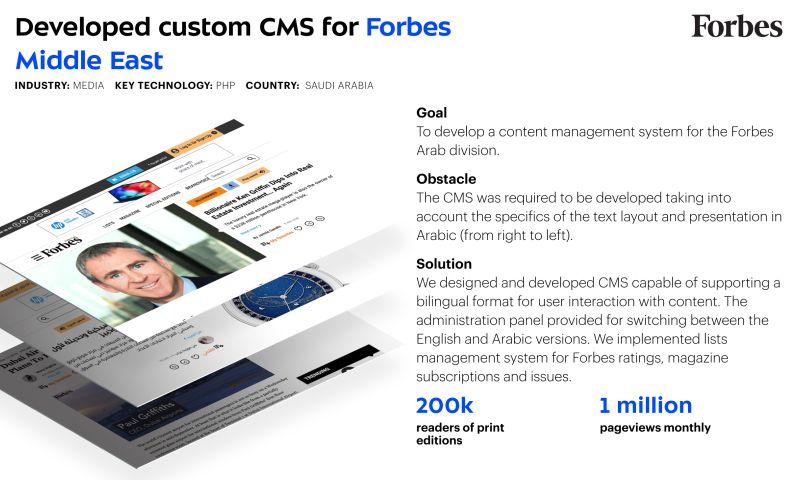 Umbrella IT - Custom CMS for Forbes