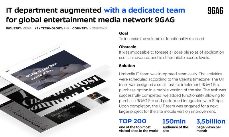 Umbrella IT - Dedicated team for 9GAG