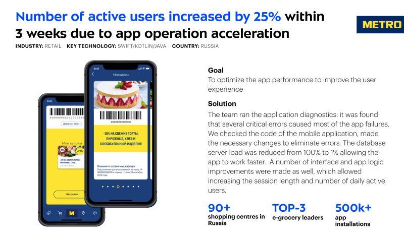Umbrella IT - App oprimization for METRO Cash&Carry