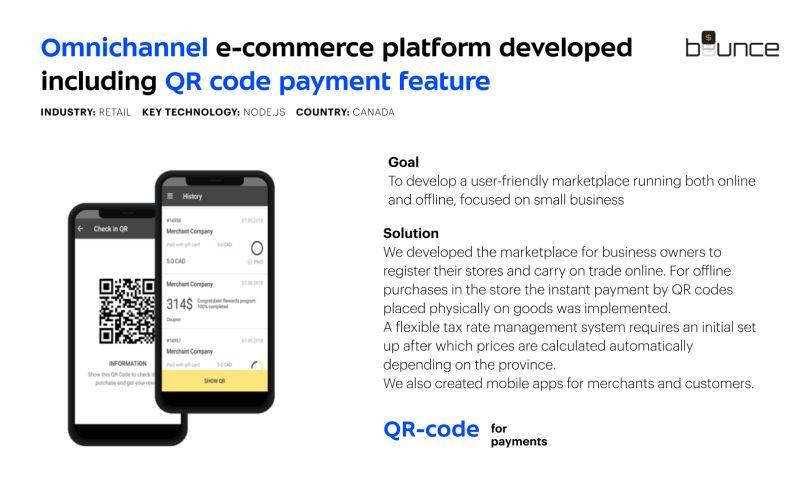 Umbrella IT - E-commerce development for Bounce