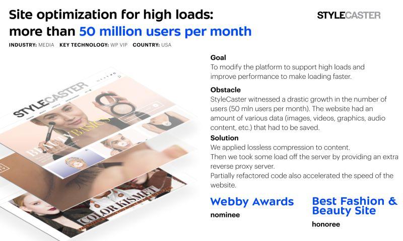 Umbrella IT - Site optimization for Stylecaster
