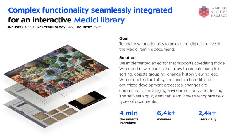 Umbrella IT - Dedicated team for The Medici Archive Project